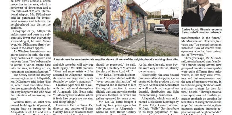 Miami Today: Allapattah's Promise as Developing Neighborhood